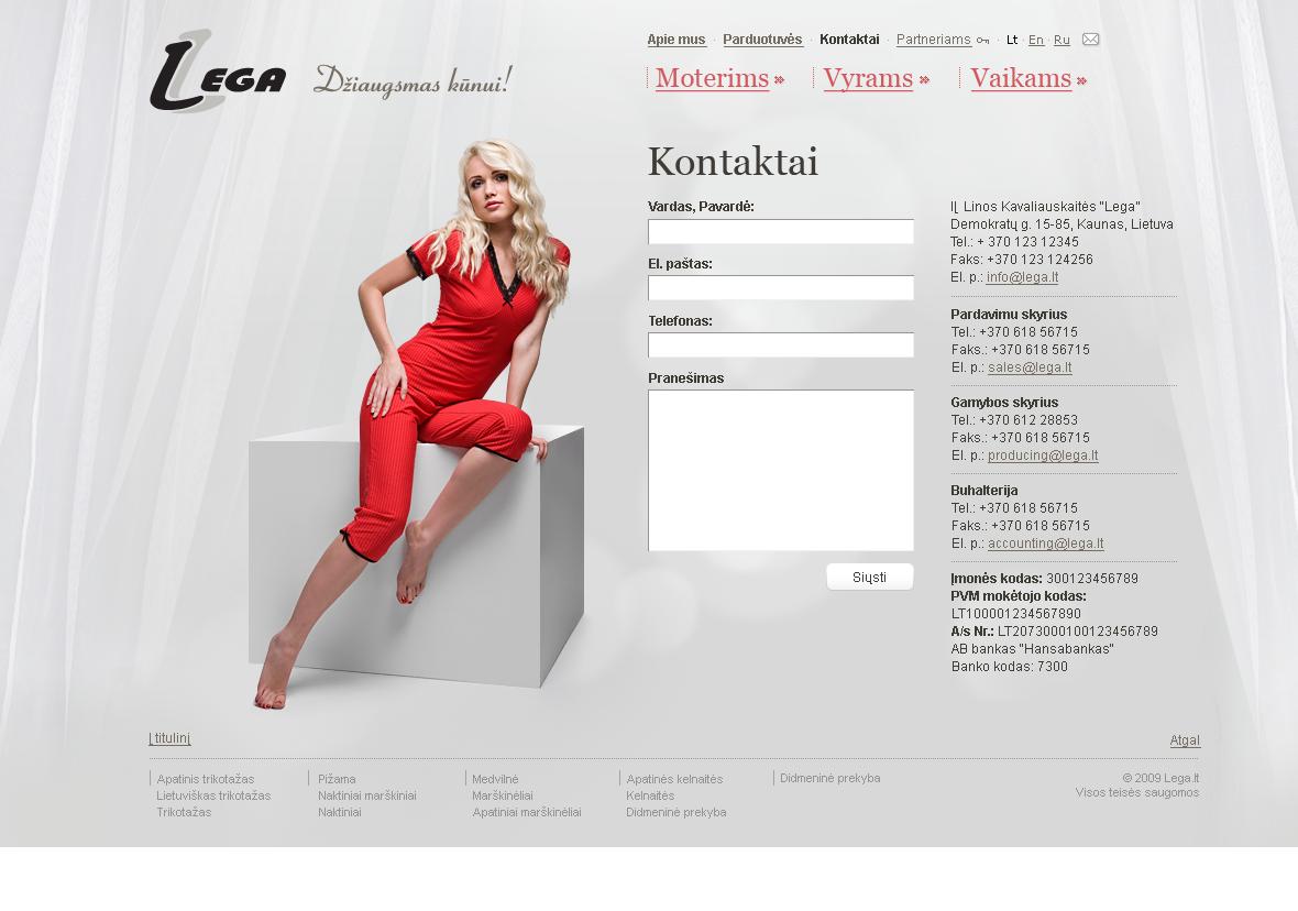 Lega.lt inner page design