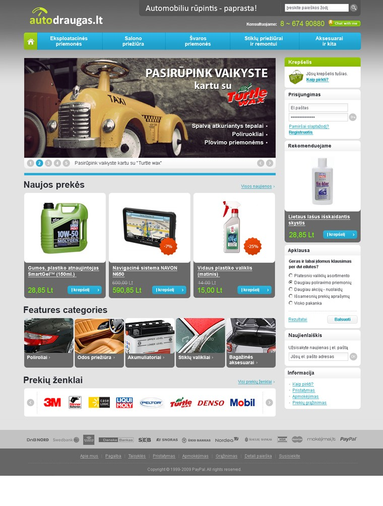 autodraugas.lt website design - home