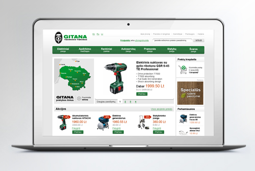 """Gitana"" e-shop design"