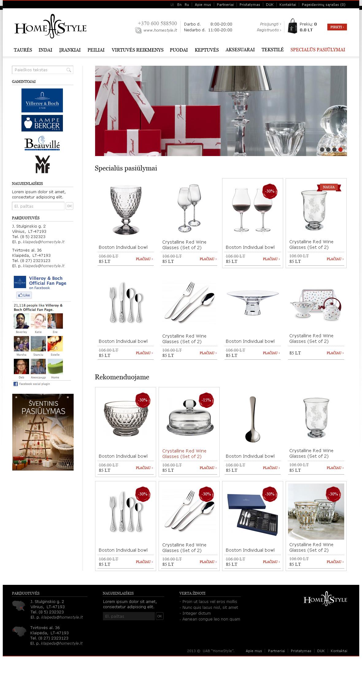 HomeStyle eshop homepage design
