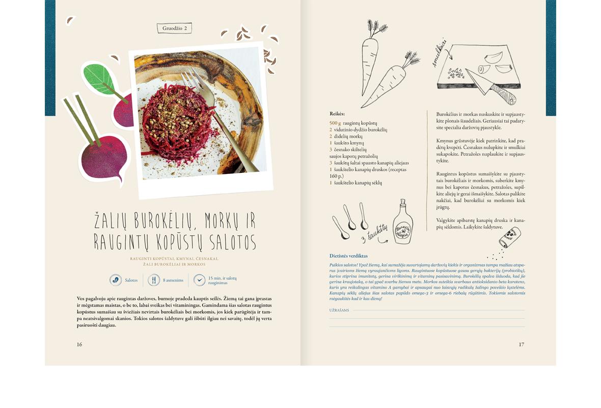"""Kulinarinė receptų knyga """"Gero maisto dienoraštis. Žiema"""