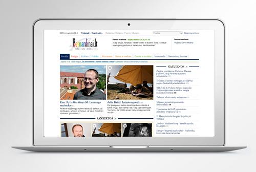 bernardinai.lt portal website