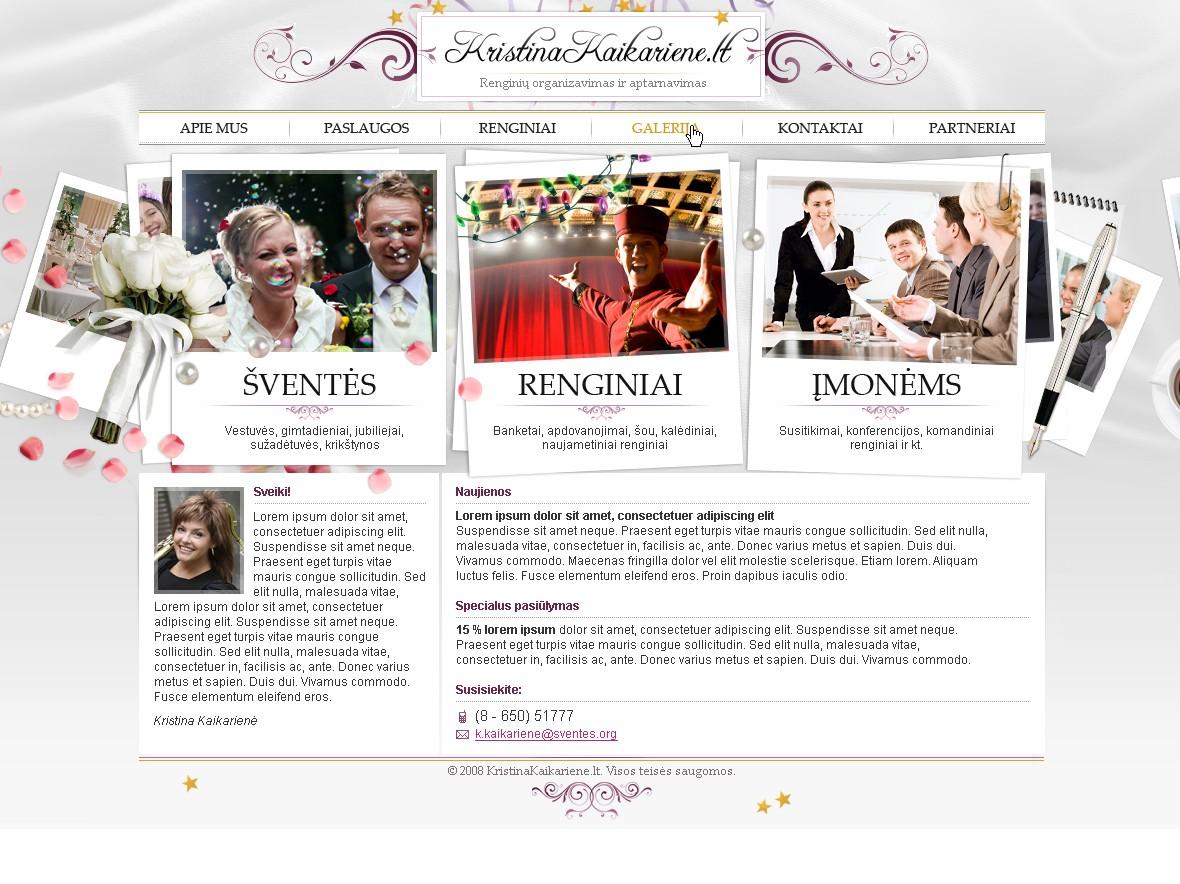 Kristinos Kaikarienes asmenines svetaines dizainas
