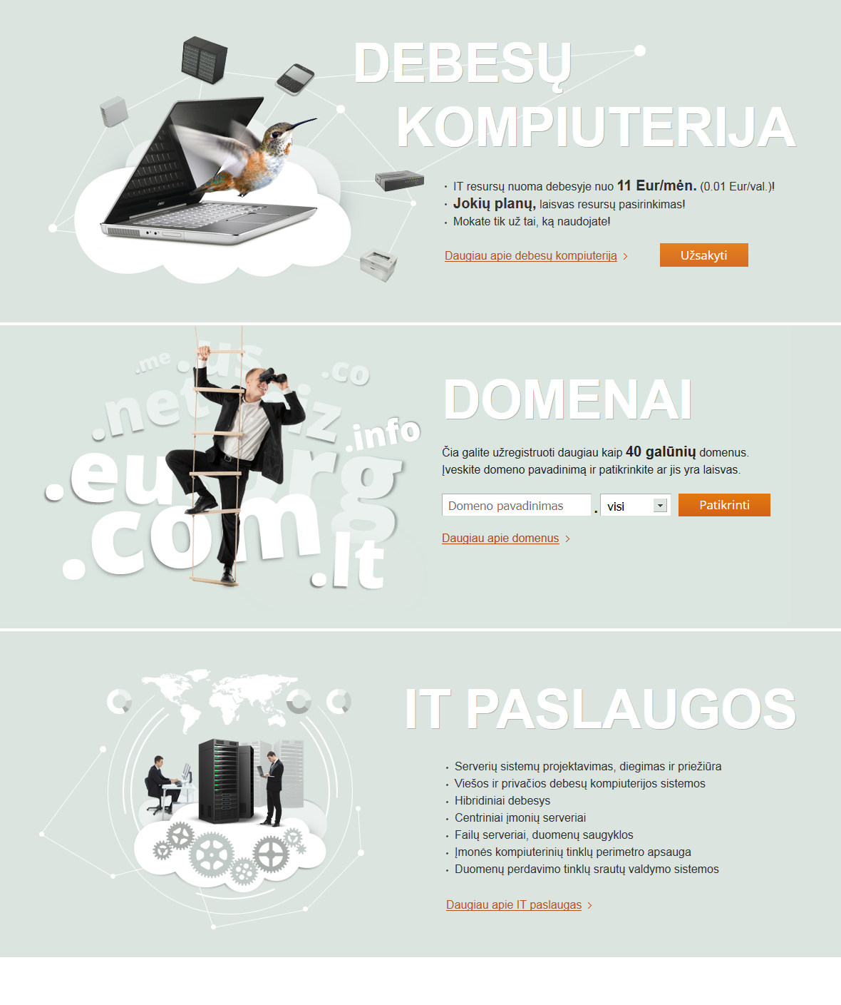 Proservis IT Cloud Computing header images