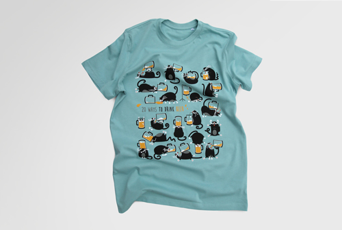 "T-shirts ""20 ways to drink beer"""
