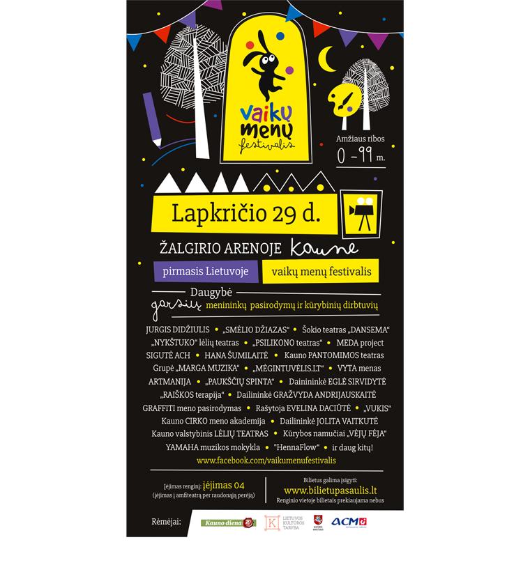 """""""Vaikų menu festivalis"""" - plakatas"""