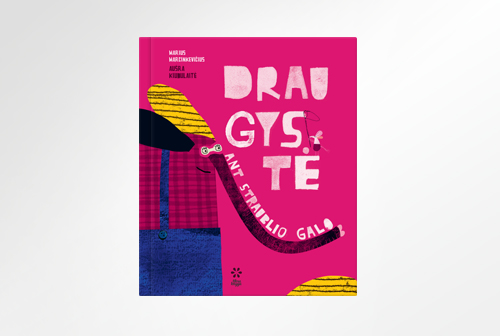 "Text design of book ""Draugystė ant straublio galo"""