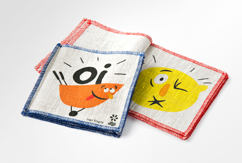 "Linen book for babies ""Oi"""