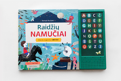"Illustrations and design of ""Raidžių namučiai"""