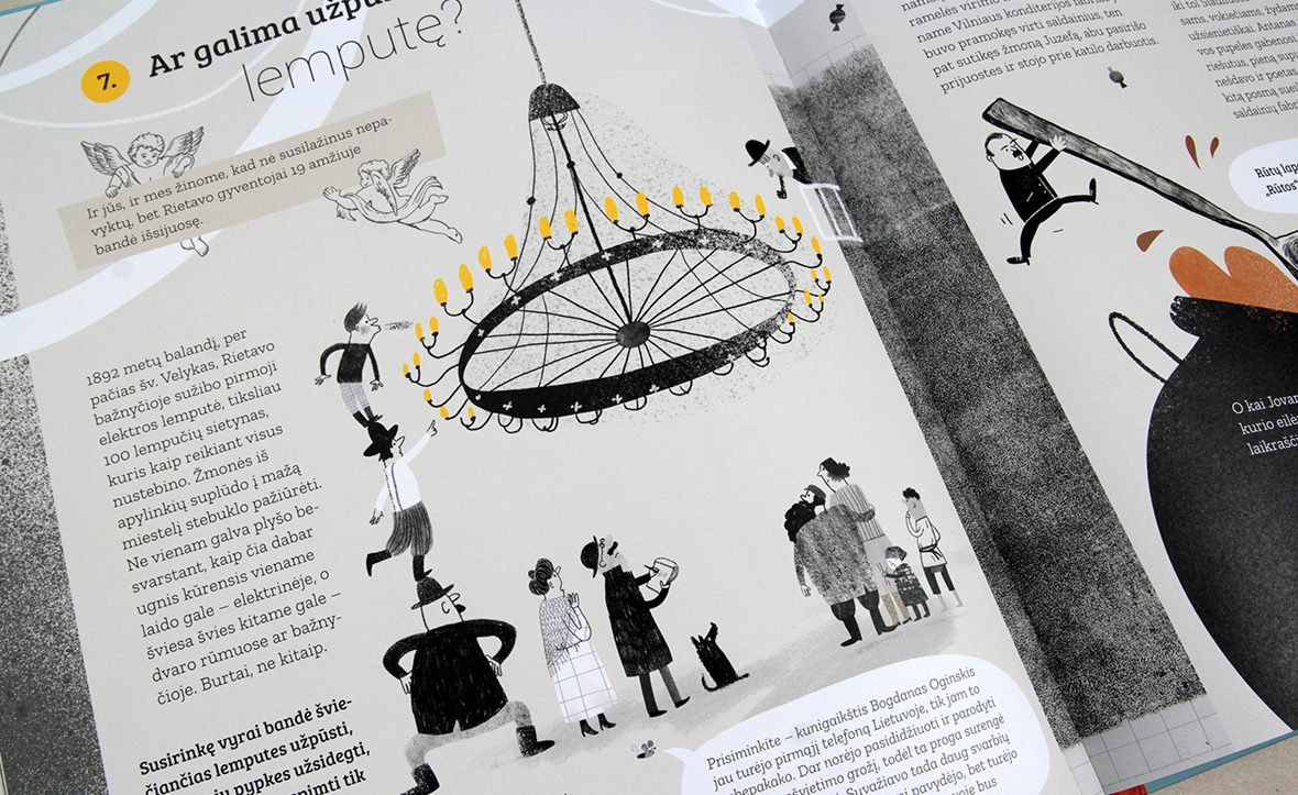 """""""Istorijos skanėstai"""" - smagi knyga vaikams ir jaunimui. Iliustravo Inga Dagilė"""