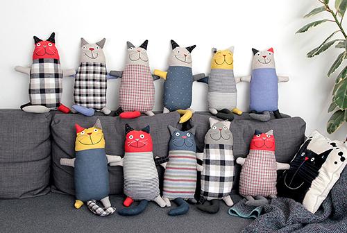 Linen cat plush toys