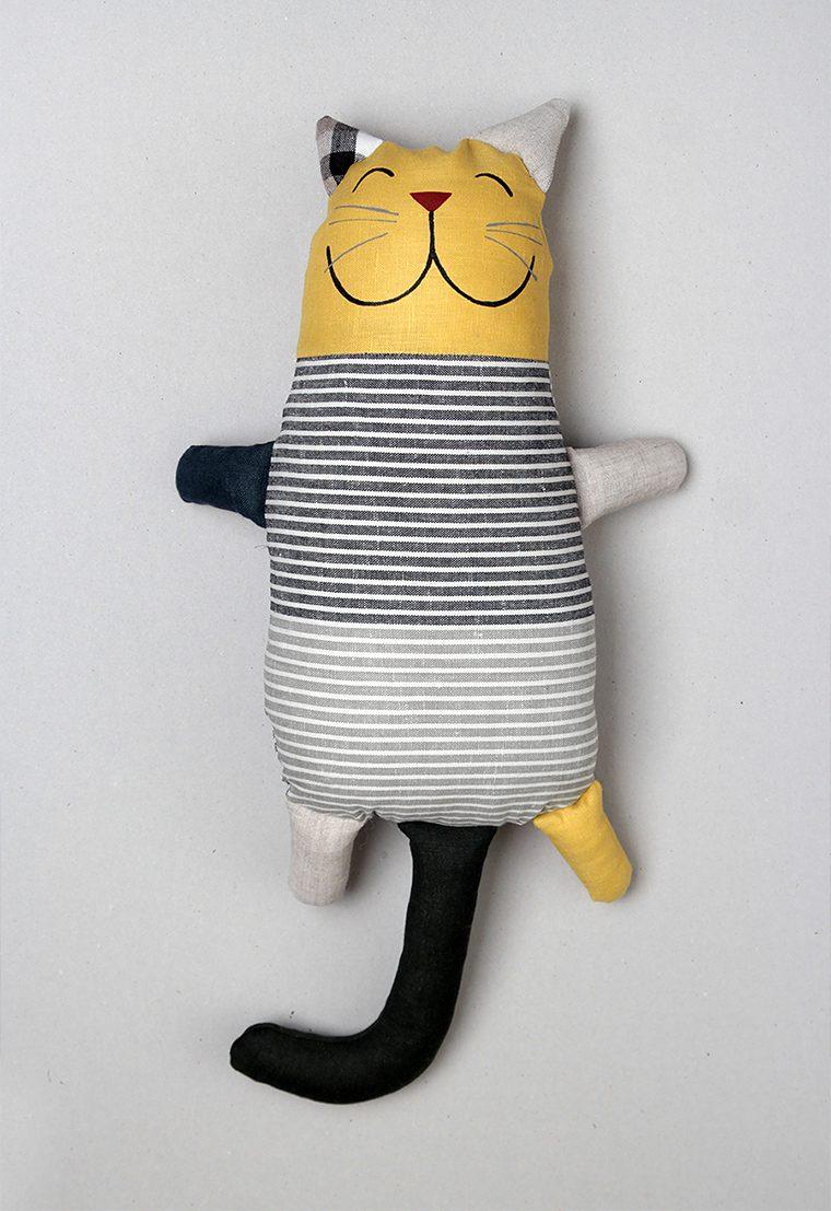 Linen cat plush toys - lininis katinas, minkštas žaislas