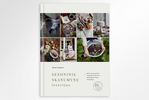 """Design of book """"Sezoninių skanumynų istorijos"""""""